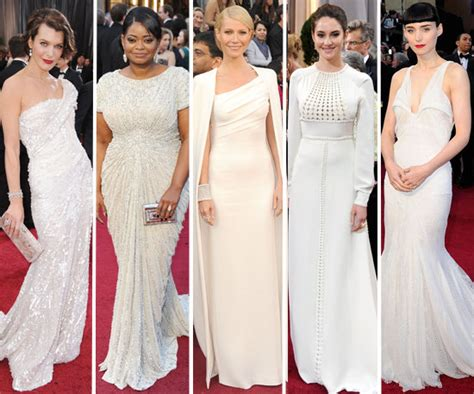Oscar Trends To All White On The by Oscars 2012 White Dress Trend Popsugar Fashion