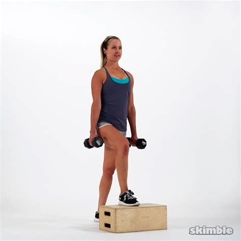 bench step ups with dumbbells dumbbell bench step ups exercise how to workout