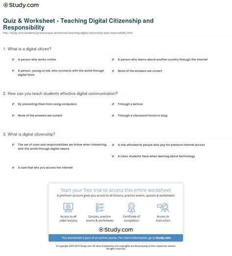 Citizenship Worksheets by Worksheet Citizenship Worksheets Caytailoc Free