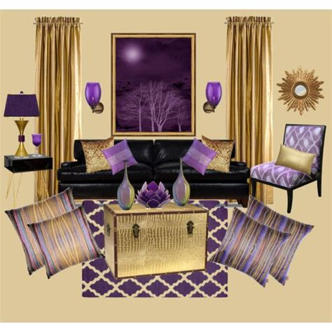 purple and gold room quot purple and gold shabby chic living room quot by truthjc on