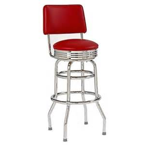 ring 30 quot bar stool with back and chrome target