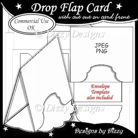 drop card template drop flap card template 163 3 00 instant card