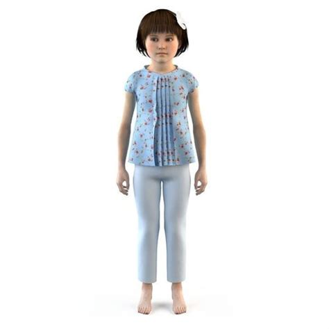 Dress Max Baby dress t shirt skirt baby clothes 3d model