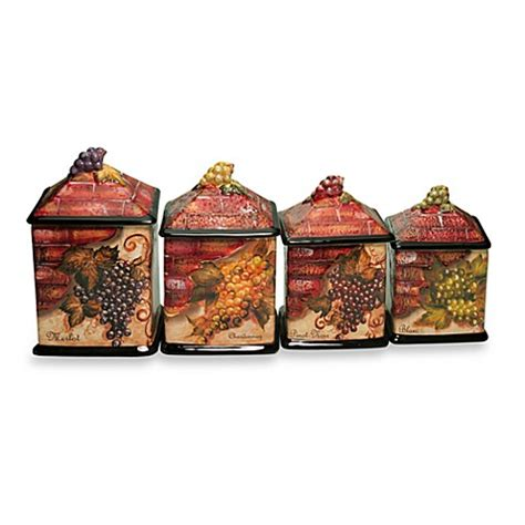 wine kitchen canisters buy certified international wine cellar collection 4