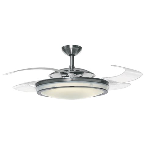 Pendant Light With Fan Fanaway Retractable Blade Ceiling Fan Pendant
