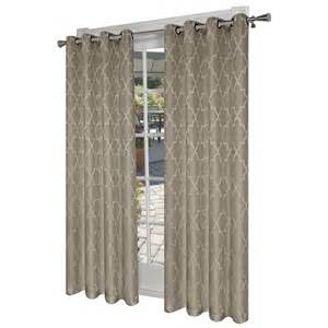 Thermal Drapes Lowes Design Decor 7 Ft L Room Darkening Solid Natural Thermal