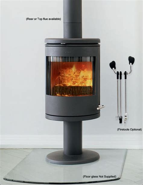 warm stove and pedestal on