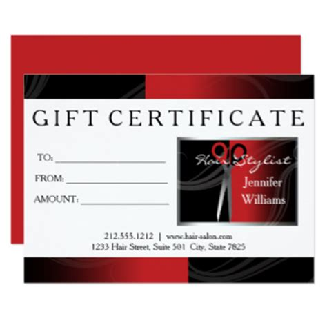 Hair Salon Gift Cards - hair salon invitations announcements zazzle
