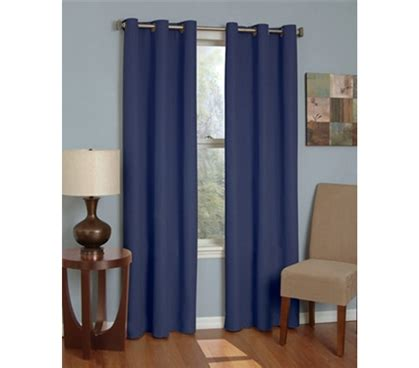 sunblock curtains college blackout curtain microfiber sunblock drape navy
