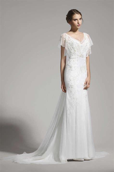 Brautkleider V by Brautkleid Mit 196 Rmeln Und V Ausschnitt Samyra Fashion