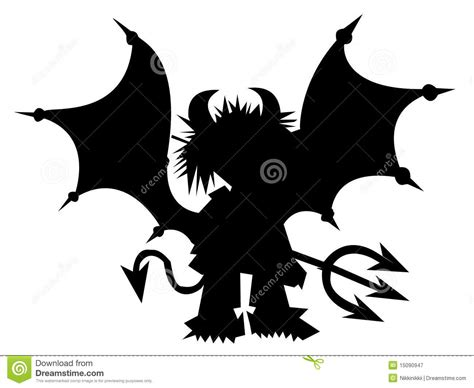 black devil with trident royalty free stock photography