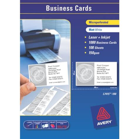 avery smooth edgebusiness card templates avery 174 smooth edge clean business cards