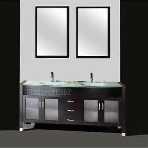 Vanity Bathroom Mirrors by 63 Inch Freestanding Double Espresso Wood Bathroom Vanity