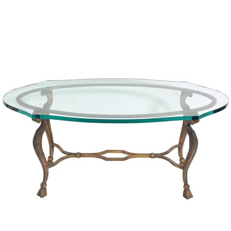 gilt metal oval coffee table for sale at 1stdibs