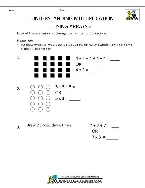 Multiplication Worksheets 2nd Grade by Free Printable Multiplication Worksheets 2nd Grade