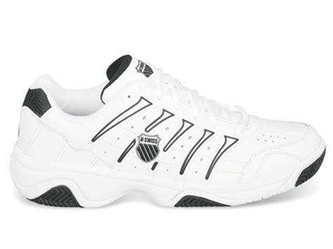 k swiss mens grancourt ii tennis shoes white black
