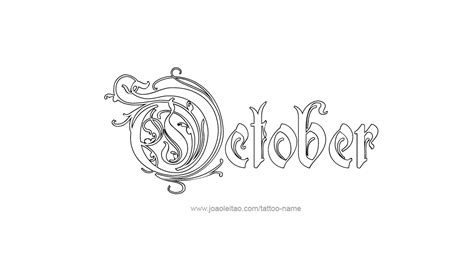 october tattoos october month name designs tattoos with names