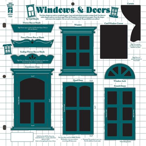 window templates for card windows doors template by the press inc 4107439