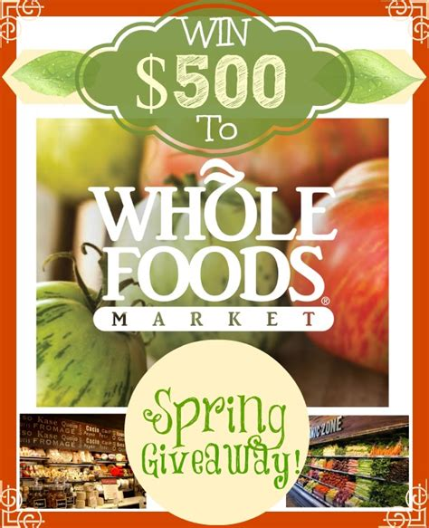Whole Foods Giveaway - whole foods 500 giveaway the recipe critic