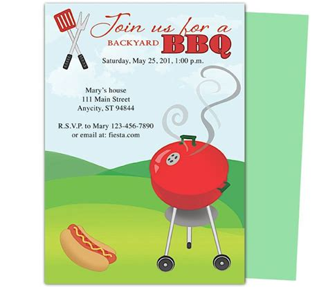 birthday bbq grillin party templates design layout easy