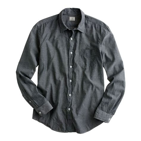 Sweater This Travelling Jidnie Clothing j crew lightweight chambray shirt in gray for lyst