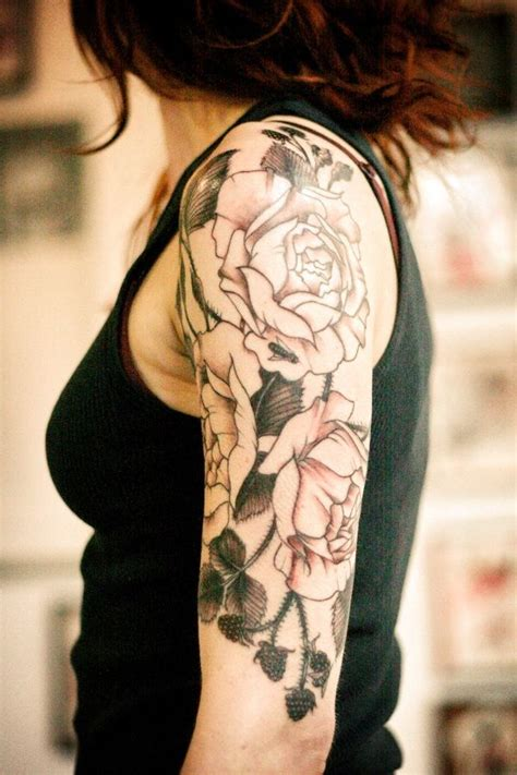 rose sleeve tattoo for girls quarter sleeve tattoos for back to post 20 cool