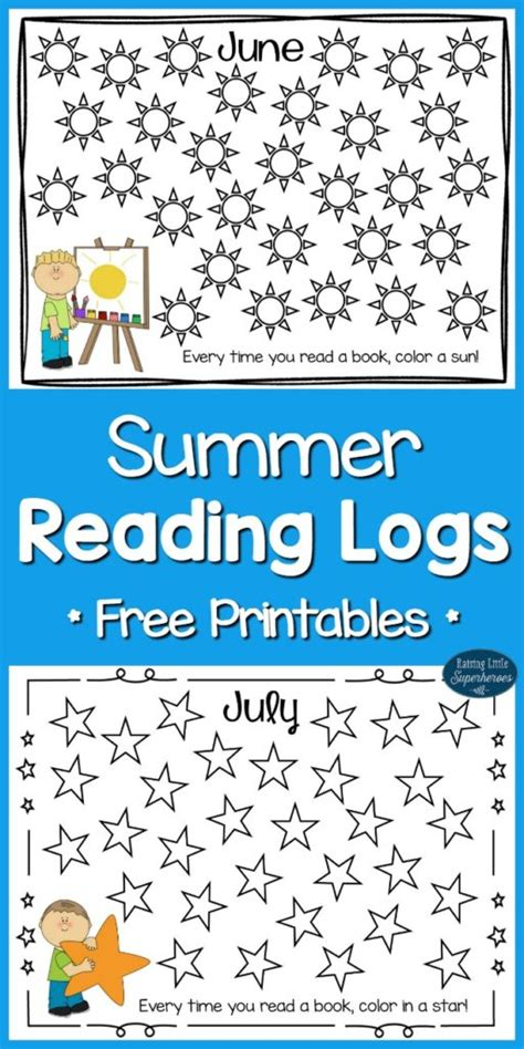 reading for free summer reading logs for free printables