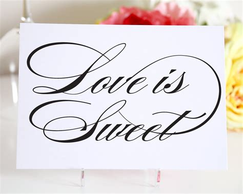 Wedding Signage Love is Sweet Sign Candy Bar by