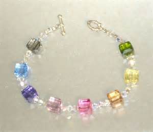 How To Make Button Jewelry - bracelet swarovski 8mm multi coloured cube crystal 307 307 40 00 debs designs