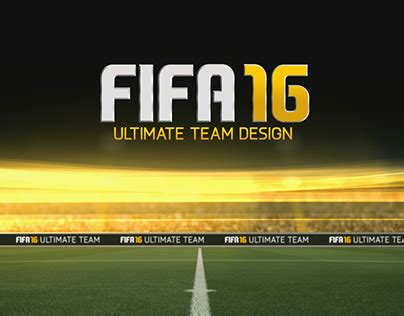 ultimate team layout fifa 16 ultimate team concept design on behance