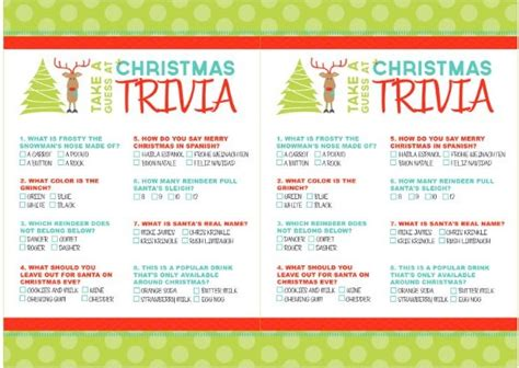 the night before christmas movie trivia printable trivia merry