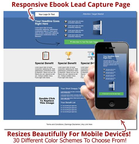 lead capture page templates free responsive capture page templates for ebooks and product