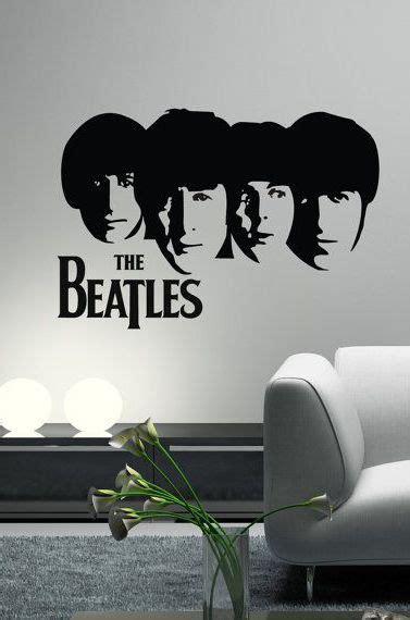 Swing Sk9078 Stiker Dinding Wall Sticker the beatles decal wall vinyl guitar silhouette heads lennon paul mccartney george