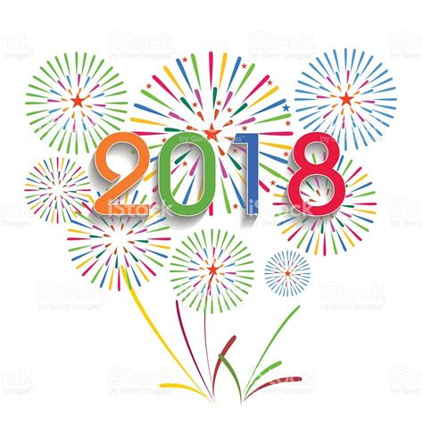 new year 2018 theme 2018 happy new year clip vector illustration of