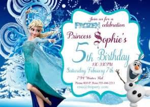 frozen birthday invitation printable frozen elsa