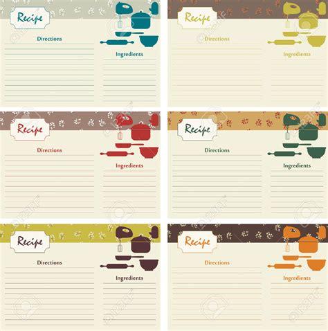 recipe card template free vector 15 recipe card designs design trends premium psd