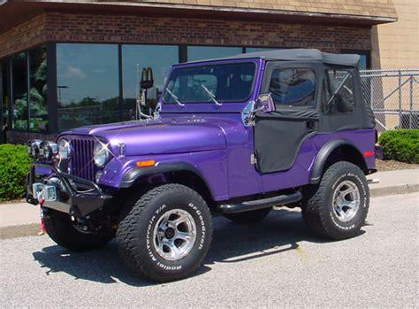 purple jeep cj cascade 4wd four wheel drive projects