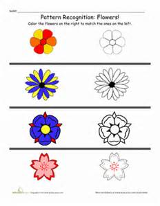 patterns in nature kindergarten lesson color patterns worksheet education com