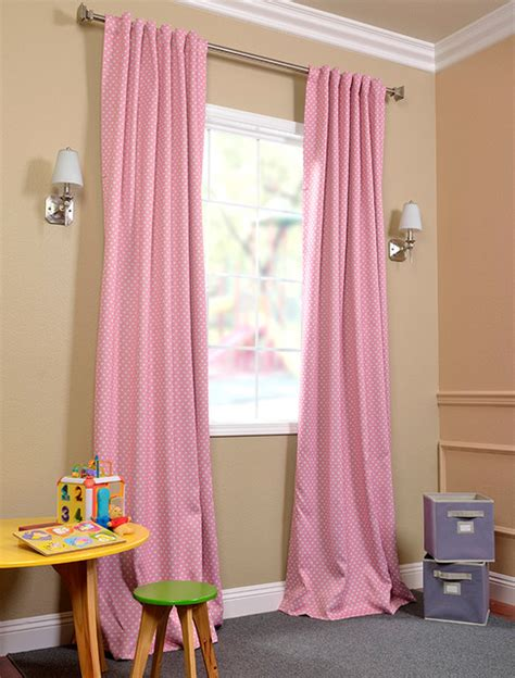 pink polka dot blackout curtains pink curtain blackout curtain menzilperde net