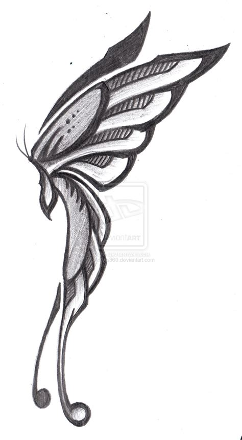 side designs tribal butterfly side view by ashes360 on deviantart
