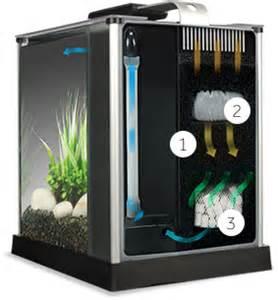 Contemporary Countertops fluval spec v aquarium 5 gallon black desktop glass