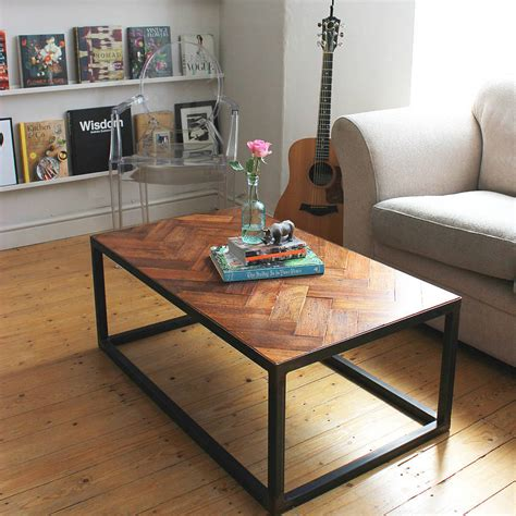upcycled coffee table upcycled parquet floor coffee table by ruby rhino