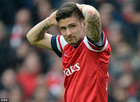 olivier giroud tattoo olivier giroud s card appealed by arsenal arsene