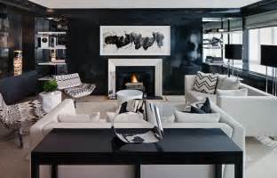 black living room white and black living room contemporary living room