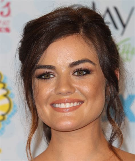 pear shaped hairstyles lucy hale hairstyles for a triangular or pear face shape