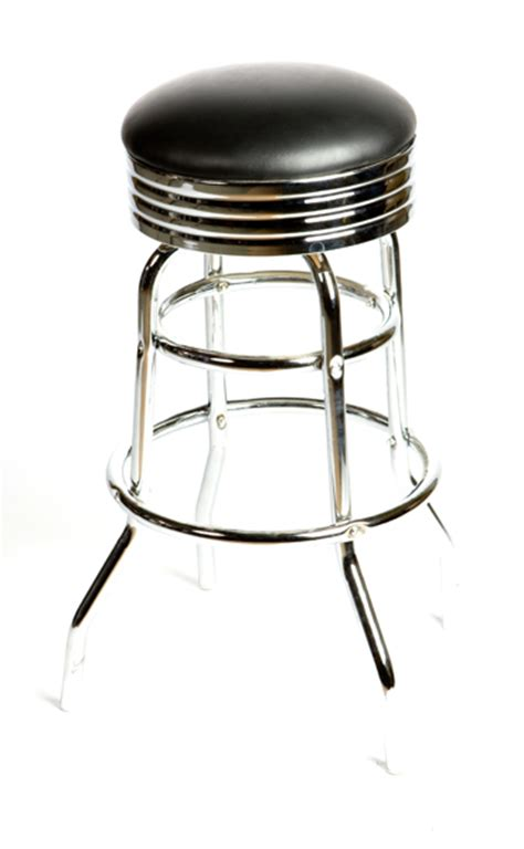 50s Bar Stools Chrome by Retro 50s Diner Style Backless Bar Stool Chrome Banding