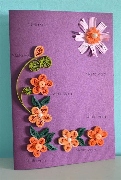 Paper Used For Greeting Cards - niketa s creative corner paper quilling greeting card