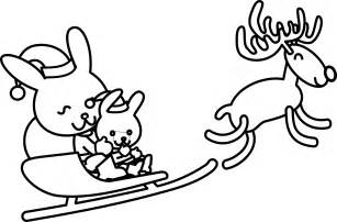 black and white coloring pages santa rabbit black white line art coloring sheet colouring