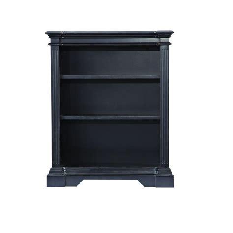 Black Open Bookshelf Home Decorators Collection Bufford Rubbed Black Open