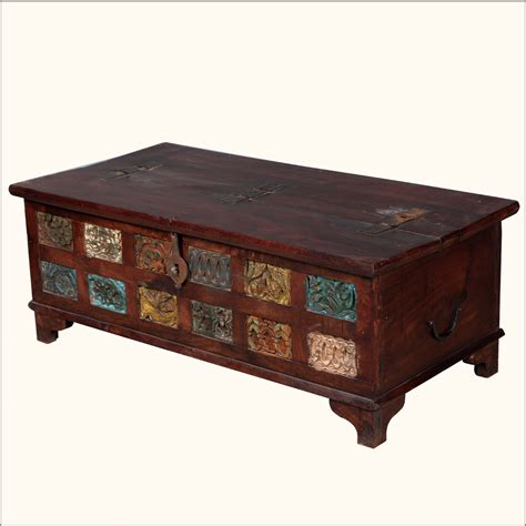 Rustic Chest Coffee Table Rustic Reclaimed Wood Storage Trunk Coffee Table Chest Box Furniture